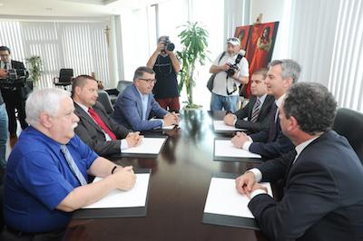 Delegazzjoni tal-IĠM immexxija miċ-Chairman Karl Wright fil-laqgħa ma' delegazzjoni tal-Partit Nazzjonalista li tmexxiet minn Dr. Simon Busuttil, Kap tal-Oppożizzjoni u tal-PN.