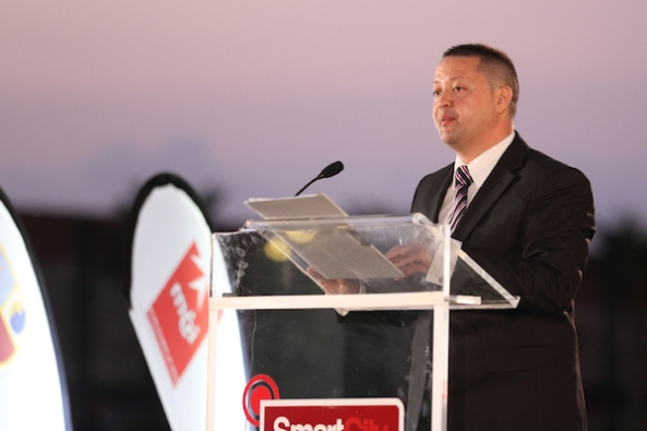 Iċ-Chairman tal-IĠM Karl Wright jindirizza l-finali tal-MJA.